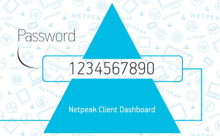 Personal card to access Netpeak Client Dashboard